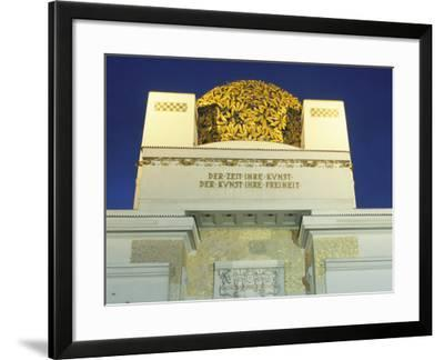 Detail of the Exterior of the Dome of the Art Nouveau Secession Building, Vienna, Austria-Richard Nebesky-Framed Photographic Print