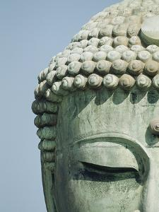 Detail of the Face of the Great Buddha of Kamakura