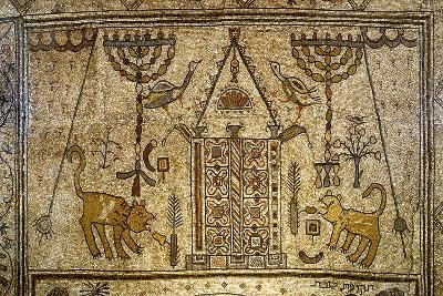 Detail of the Floor Depicting the Holy Ark Flanked by Candelabras, Lions and Birds--Giclee Print