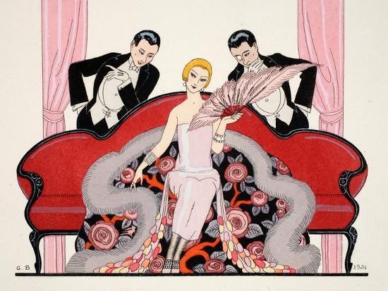 Detail of the Front Cover of 'Falbalas and Fanfreluches, Almanach des Modes-Georges Barbier-Giclee Print