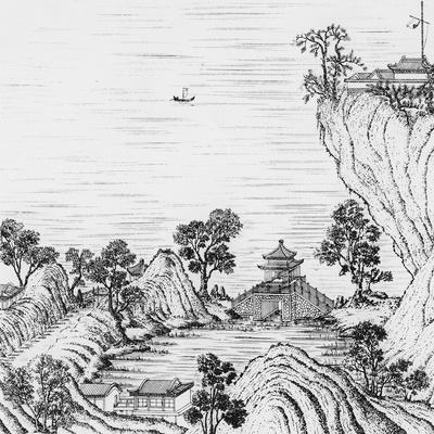 Detail of the Gardens of the Chinese Emperor--Giclee Print