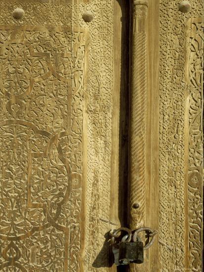 Detail of the Gate of the Kunya Ark, Khiva, Uzbekistan, Central Asia-Upperhall-Photographic Print
