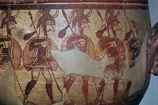 Detail of the Greek Warrior Vase, 13th century BC. Artist: Unknown-Unknown-Giclee Print
