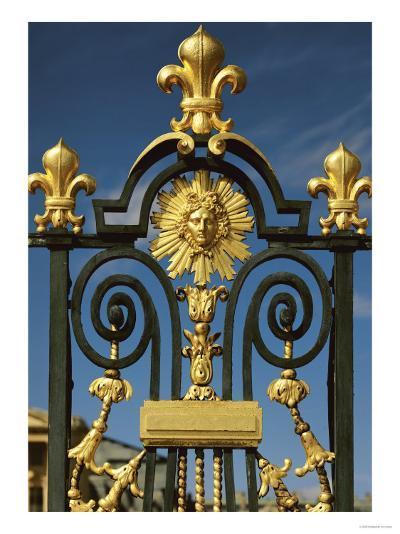 Detail of the Grille D'Honneur of Fleur De Lys and the Emblem of Louis XIV (1638-1715)--Premium Giclee Print