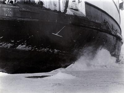 Detail of the Hull of the Ice-Breaking Train Ferry Steamer 'Ss Baikal', Lake Baikal--Photographic Print