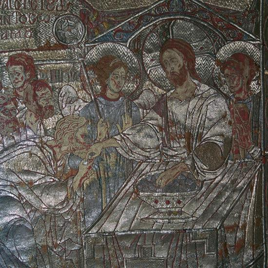 Detail of the Last Supper on embroidered vestments, 14th century-Unknown-Giclee Print
