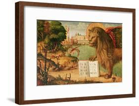 Detail of the Lion of St. Mark, 1516-Vittore Carpaccio-Framed Giclee Print