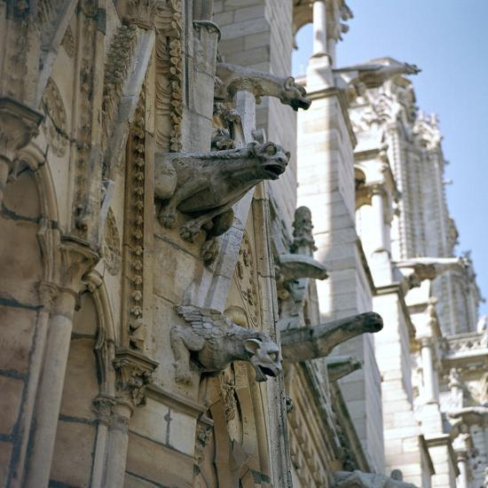 Detail of the north side of Notre Dame, 12th century-Unknown-Photographic Print