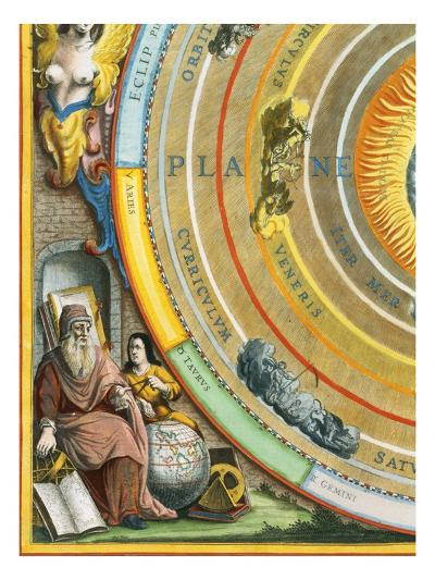 Detail of The Planisphere of Ptolemy Plate from The Celestial Atlas-Andreas Cellarius-Giclee Print