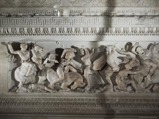 Detail of the Sarcophagus of Alexander the Great, Istanbul Museum, Turkey, Eurasia-Richard Ashworth-Photographic Print