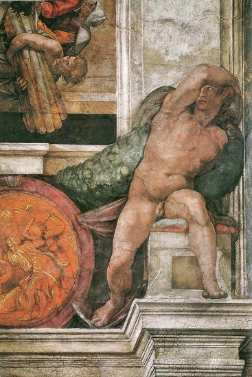 Detail Of The Sistine Chapel Ceiling In The Vatican 1508 1512 Giclee Print By Michelangelo Buonarroti Art Com