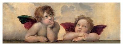 Detail of the Sistine Madonna, c.1514-Raphael-Giclee Print