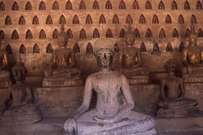 Detail of the Statues of Wat Si Saket Buddhist Temple, Dating Back to 1818, Vientiane, Laos--Giclee Print