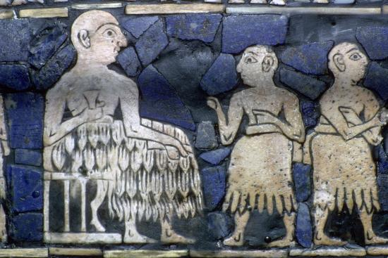 Detail of the Sumerian ruler from the Standard of Ur, about 2600-2400 BC.. Artist: Unknown-Unknown-Giclee Print