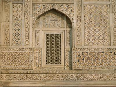 Detail of the Tomb of Itmad Ud Daulah (Itimad-Ud-Daulah), Agra, Uttar Pradesh State, India-Gavin Hellier-Photographic Print