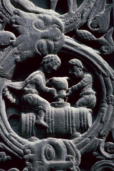 Detail of the west doorway of St Denis, 12th century. Artist: Unknown-Unknown-Giclee Print
