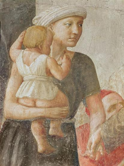 Detail of the Woman and Child, from St. Peter and St. Paul Distributing Alms, C.1427 (Detail)-Tommaso Masaccio-Giclee Print