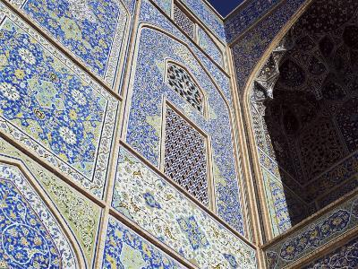 Detail of Tilework, Masjid-E Imam, Formerly the Shah Mosque, Isfahan, Iran-Robert Harding-Photographic Print