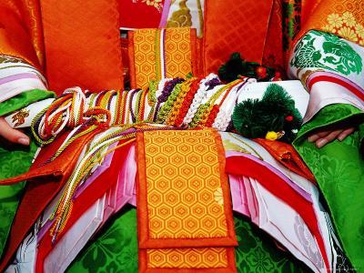 Detail of Traditional Costume at the Jidai Matsuri Festival-Frank Carter-Photographic Print