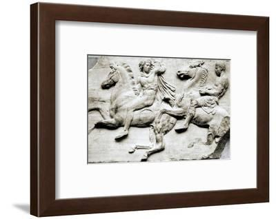 Detail of two galloping riders from the west frieze of the Parthenon, c438-432 BC-Werner Forman-Framed Photographic Print