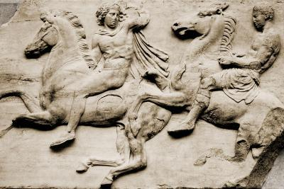 Detail of Two Galloping Riders from the West Frieze of the Parthenon--Giclee Print