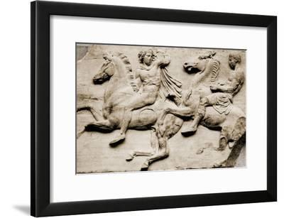 Detail of Two Galloping Riders from the West Frieze of the Parthenon--Framed Giclee Print