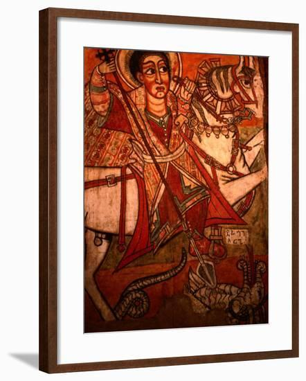 Detail of Wall Painting in Church, Ethiopia-Frances Linzee Gordon-Framed Photographic Print