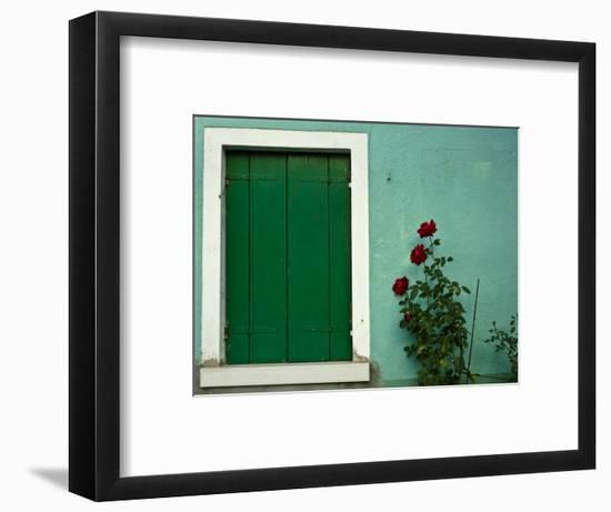 Detail of Window Shutter of House-Guylain Doyle-Framed Photographic Print