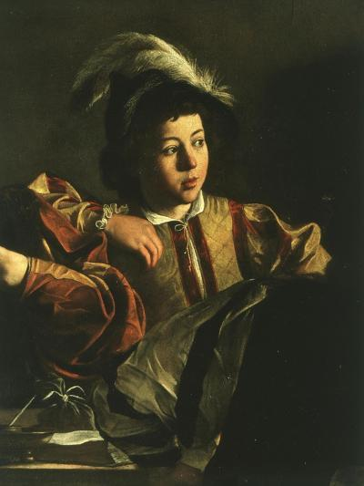Detail of Young Boy from the Calling of Saint Matthew, 1599-1600-Caravaggio-Giclee Print