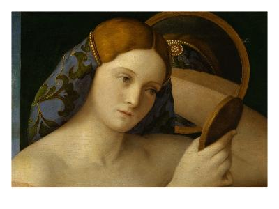 Detail of Young Woman with a Mirror-Giovanni Bellini-Giclee Print