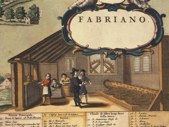 Detail Representing Paper Industry of City of Fabriano-Georg Braun-Giclee Print