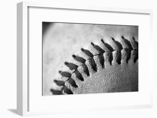 Detail Shot of a Baseball-Joel Sartore-Framed Photographic Print