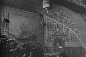 Detail, wall decorations in the gallery, Roosevelt Theatre, Chicago, Illinois, 1925