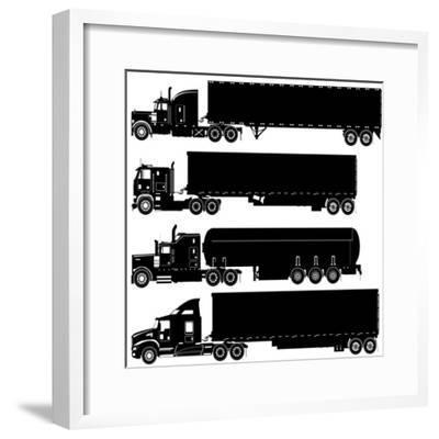 Detailed Trucks Silhouettes Set-Mechanik-Framed Premium Giclee Print