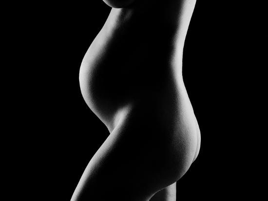 Details of a pregnant woman's body--Photographic Print