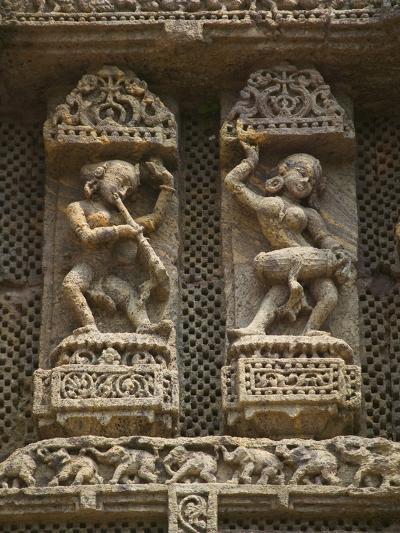 Details of Bas Relief of Orissa Dancers at Sun Temple, Konark, Orissa, India-Keren Su-Photographic Print