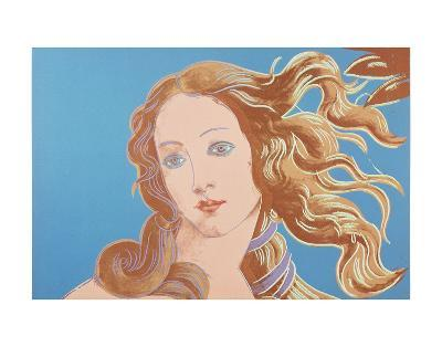 Details of Renaissance Paintings (Sandro Botticelli, Birth of Venus, 1482), 1984 (blue)-Andy Warhol-Art Print
