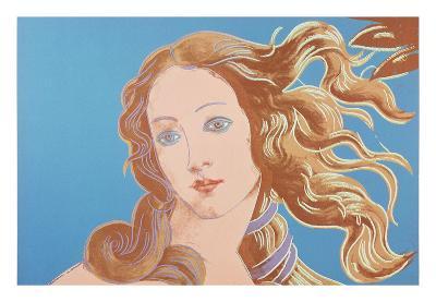 Details of Renaissance Paintings (Sandro Botticelli, Birth of Venus, 1482), 1984 (blue)-Andy Warhol-Art Print