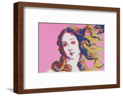 Details of Renaissance Paintings (Sandro Botticelli, Birth of Venus, 1482), 1984 (pink)-Andy Warhol-Framed Art Print