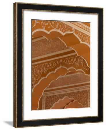 Details of the Intricate Architecture of City Palace in Jaipur-Michael Melford-Framed Photographic Print