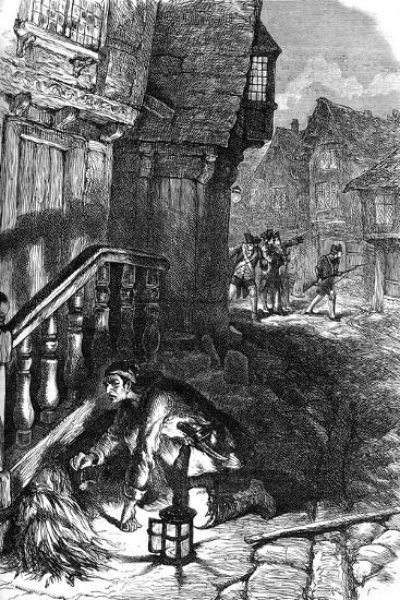 Detection of an Incendiary, American Revolutionary War, C1776--Giclee Print