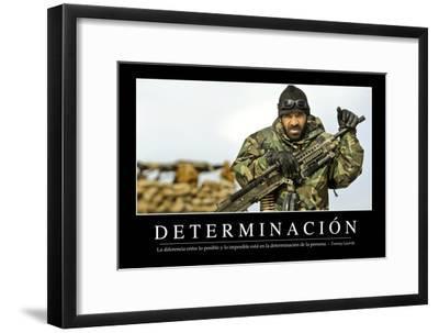 Determinación. Cita Inspiradora Y Póster Motivacional