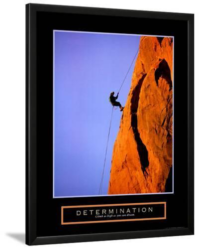Determination: Climber--Lamina Framed Art Print