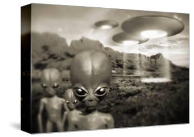 Alien Contact In the 1940s, Artwork by Detlev Van Ravenswaay