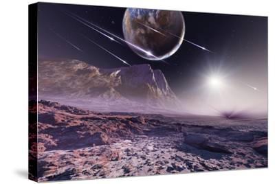 Alien Meteorite Shower, Artwork by Detlev Van Ravenswaay