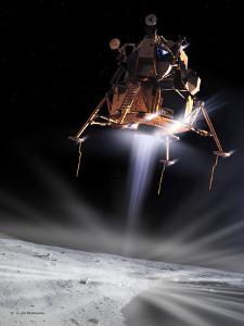 Apollo 11 Moon Landing, Computer Artwork by Detlev Van Ravenswaay