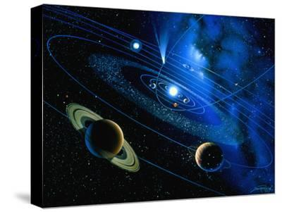 Artwork of Solar System And Comet