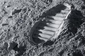 Astronaut Footprint on the Moon by Detlev Van Ravenswaay