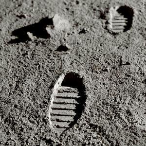 Astronaut Footprints on the Moon by Detlev Van Ravenswaay