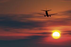 Boeing 737 Ascending At Sunset, Artwork by Detlev Van Ravenswaay